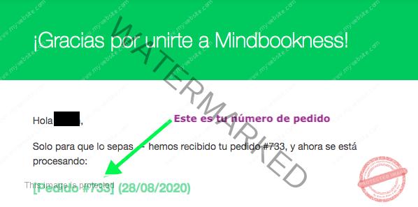 número de pedido mindbookness